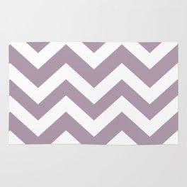 Lilac Luster - violet color - Zigzag Chevron Pattern Rug