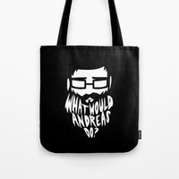 andreas preis Tote Bags featuring ANDREAS by Riceveryday