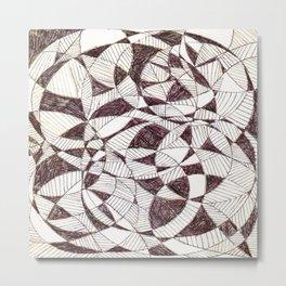 Life is Circular  Metal Print