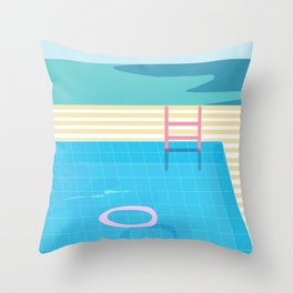 Swimming Pool Sessions Throw Pillow