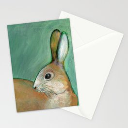 Portrait of a Nut Brown Hare Stationery Cards