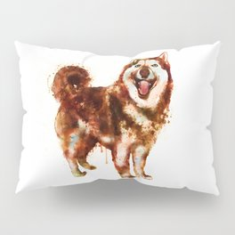 Husky Dog Watercolor Painting Pillow Sham