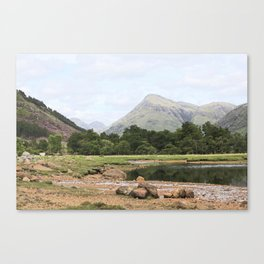 Here is realization - Glen Etive, Scotland Canvas Print