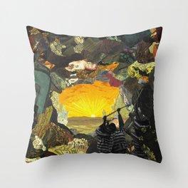 Subterranean Prison Passage Throw Pillow