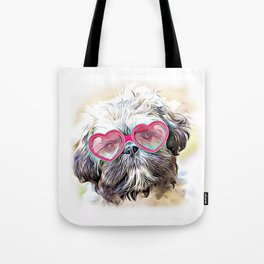Valentines Shih Tzu dog Tote Bag