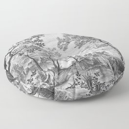 Landscape with Judah and Tamar Floor Pillow