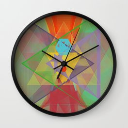 hearts & more - triangle head 101 Wall Clock