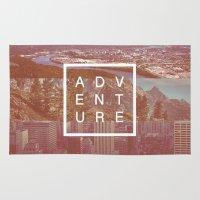 adventure Area & Throw Rugs featuring Adventure by Zeke Tucker