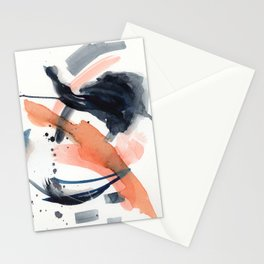 Abstract watercolour dance party Stationery Cards