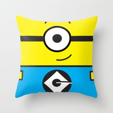 Minion Yellow Throw Pillow