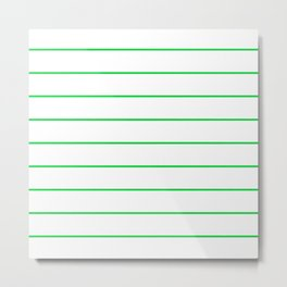 SKINNY STRIPE ((true green)) Metal Print
