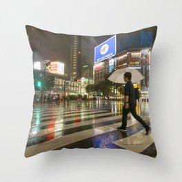 Shibuya Crossing Japan Throw Pillow