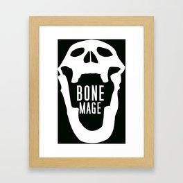 Bone Mage Skull  Framed Art Print