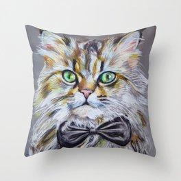 Best looking cat: Corleone Throw Pillow