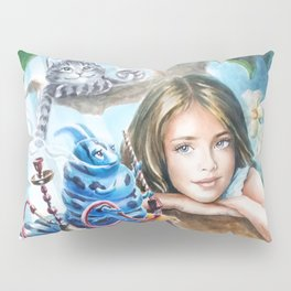 Alice and blue caterpillar Pillow Sham