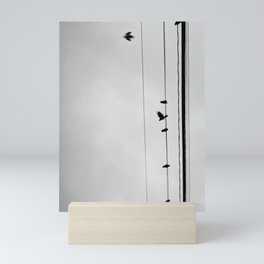 Birds on a Wire Mini Art Print