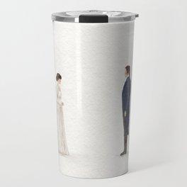Elizabeth and Mr Darcy Travel Mug