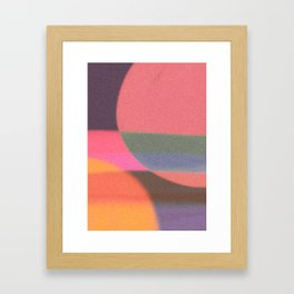 Mid-century modern abstract composition Framed Art Print