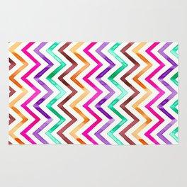 Chevron Multicolor Watercolor Rug