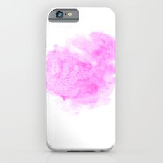 Pink watercolor abstract minimal modern painting perfect decor minimalist iPhone 6s Slim Case