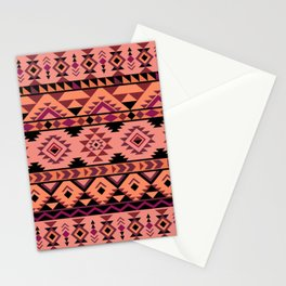 Pink aztec repeated pattern Stationery Cards