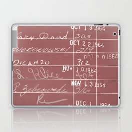 Library Card 23322 Negative Red Laptop & iPad Skin