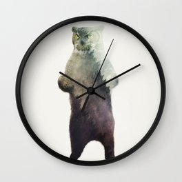 Owlbear in Forest Wall Clock