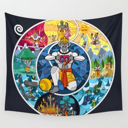 Life of Hanuman Wall Tapestry