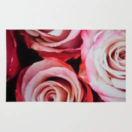 Large Red Roses Rug
