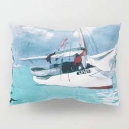 Fishing Boats, Key West - Digital Remastered Edition Pillow Sham