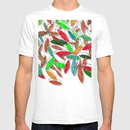 colored leaves T-shirt
