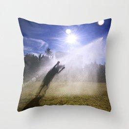 Alien abduction Throw Pillow
