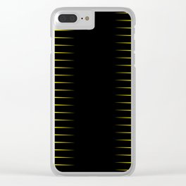 Yellow and black line background #society6 #decor #buyart #artprint Clear iPhone Case