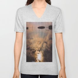 spring reflection Unisex V-Neck