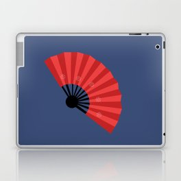 Japanese hand fan art Laptop & iPad Skin