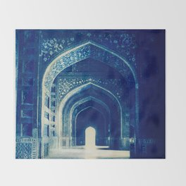 Taj Mahal - India by Mindia Throw Blanket