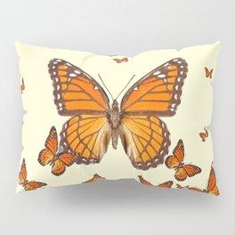 MONARCH BUTTERFLY SWARM Pillow Sham