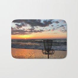 Disc Golf Basket Virginia Beach Atlantic Sunset Frisbee Chesapeake Bay Camping Bath Mat