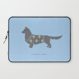 Cardigan Corgi Laptop Sleeve