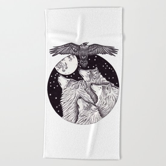 Catch The Moon Beach Towel