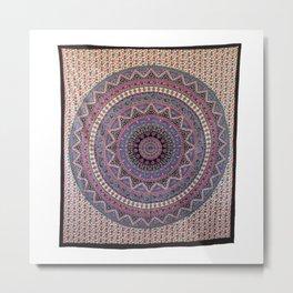 Hippie Star Mandala Psychedelic Tapestries Metal Print