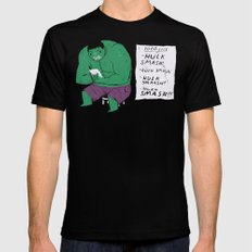 Hulk to do list. Mens Fitted Tee Black LARGE