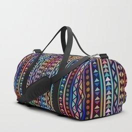 Colorful Tribal Stripes and triangles Pattern Duffle Bag