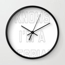 NO ONE KNOWS T-SHIRT Wall Clock