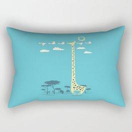 I'm like a bird (blue) Rectangular Pillow