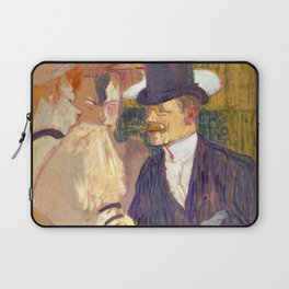 "Henri de Toulouse-Lautrec ""The Englishman (William Tom Warrener, 1861–1934)"" Laptop Sleeve"