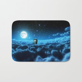 Tardis Cloud And Moon Bath Mat