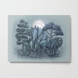 Midnight in the Stone Garden (colour option) Metal Print