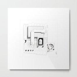 Post Industrial Landscape / Architectural Axonometric Metal Print