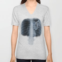 X Ray Bicycle heart components Unisex V-Neck